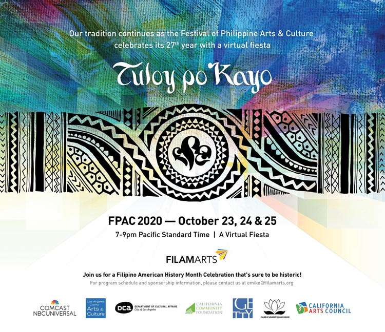 www.asianjournal.com: Festival of Philippine Arts and Culture returns virtually for Filipino American History Month on Oct. 23-25 —