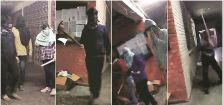 Masked Goons attack students inside JNU University