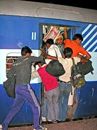 RAILROAD BLUES:  CROWDING IN TRAINS
