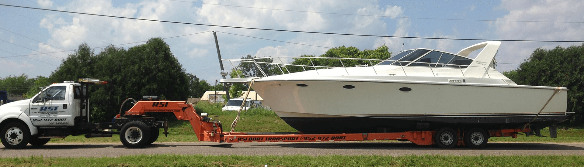 Large Boat Transportation Service by RSI Marine Lake Minnetonka