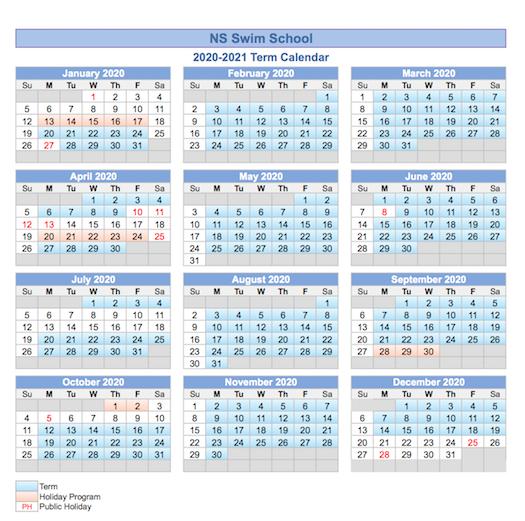 NS Swim 2020 Calendar_Brookvale