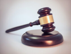 Photo of a judge's gavel.