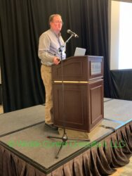 Stephen M. Vantassel speaking at the 29th Vertebrate Pest Conference on M-44s and Box trap temperatures.
