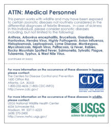 USGS and CDC card for zoonotics