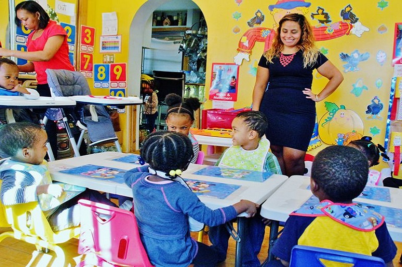 Photo taken during a visit to one of our Home-Based Childcare Program participants.