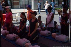 CPR training at Bronx Summer Fest 2016.