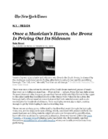 03-19-2017 NY Times_Once a Musicians Haven, the Bronx Is Pricing Out Its Sidemen