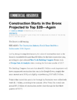 12-28-2017 Commercial Observer_Construction Starts in the Bronx Projected to Top