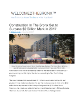 12-28-2017 Welcome 2 The Bronx_Construction In The Bronx Set to Surpass 2 Billion Mark in 2017