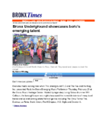 03-01-2019 BronxTimes_Emerging Artists Showcase