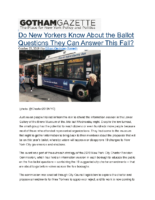 10-23-2019 Gotham Gazette_Do New Yorkers Know About the Ballot Questions They Can Answer This Fall