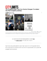 10-31-2019 City Limits_The Proposed New York City Charter Changes Translated into Plain English