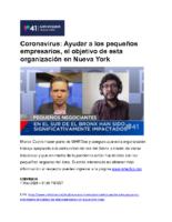 05-01-2020_Univision_Coronavirus-Ayudar a los pequenos empresarios, el objectivo de esta organizacion en Nueva York