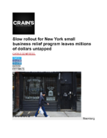 08_27_2021_Crain's_Slow_rollout_for_New_York_small_business_relief_program_leaves_millions_of_dollars_untapped