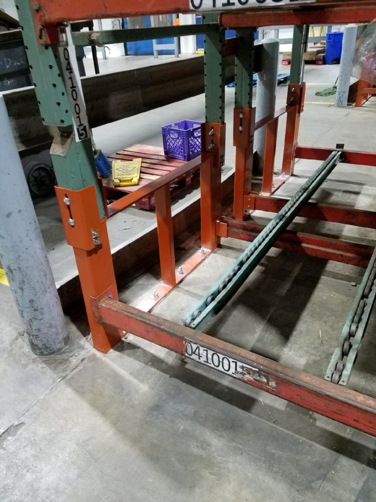 Double Post Warehouse Pallet Rack Repair Kit