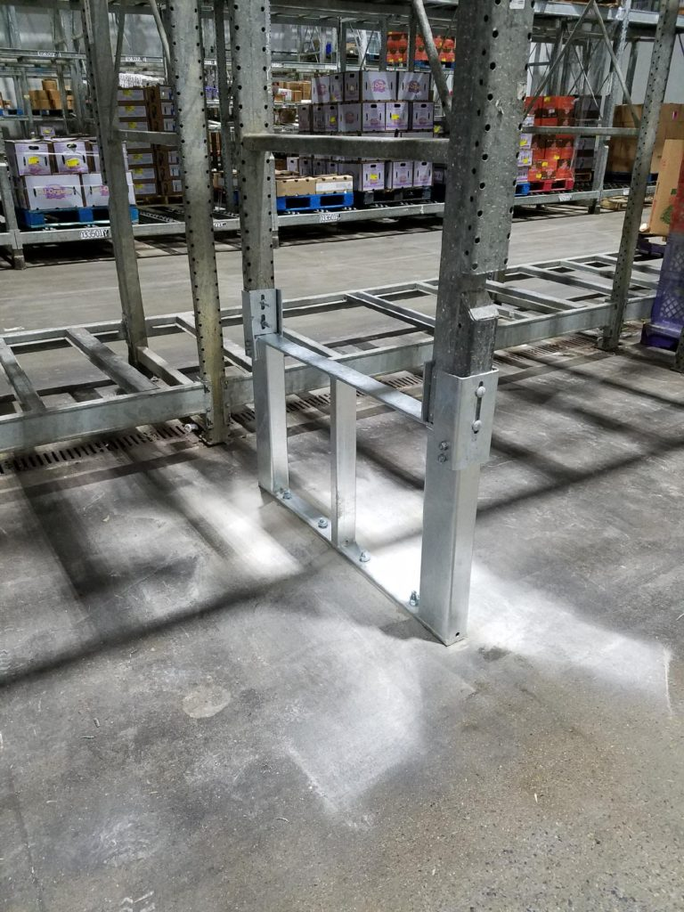 Galvanized Pallet Rack Repair Kit Double Post