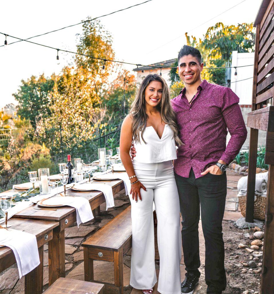 elegant backyard engagement party