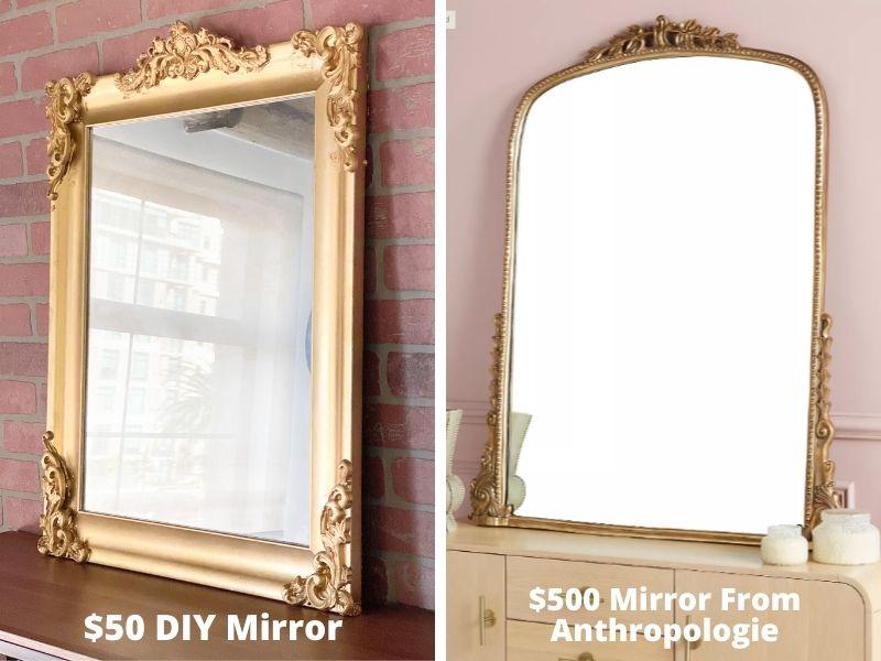 DIY Anthropologie Mirror For Under $50