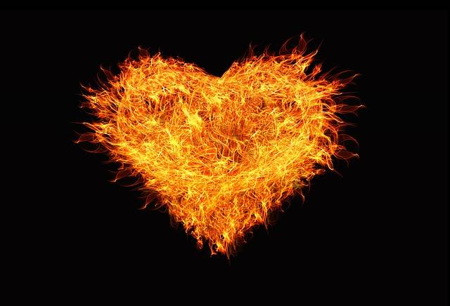 God's voice is his heart speaking. Blazing heart.