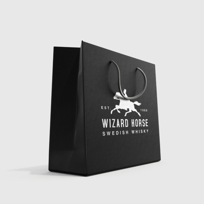 Black Premium Shopping Bag Mockup