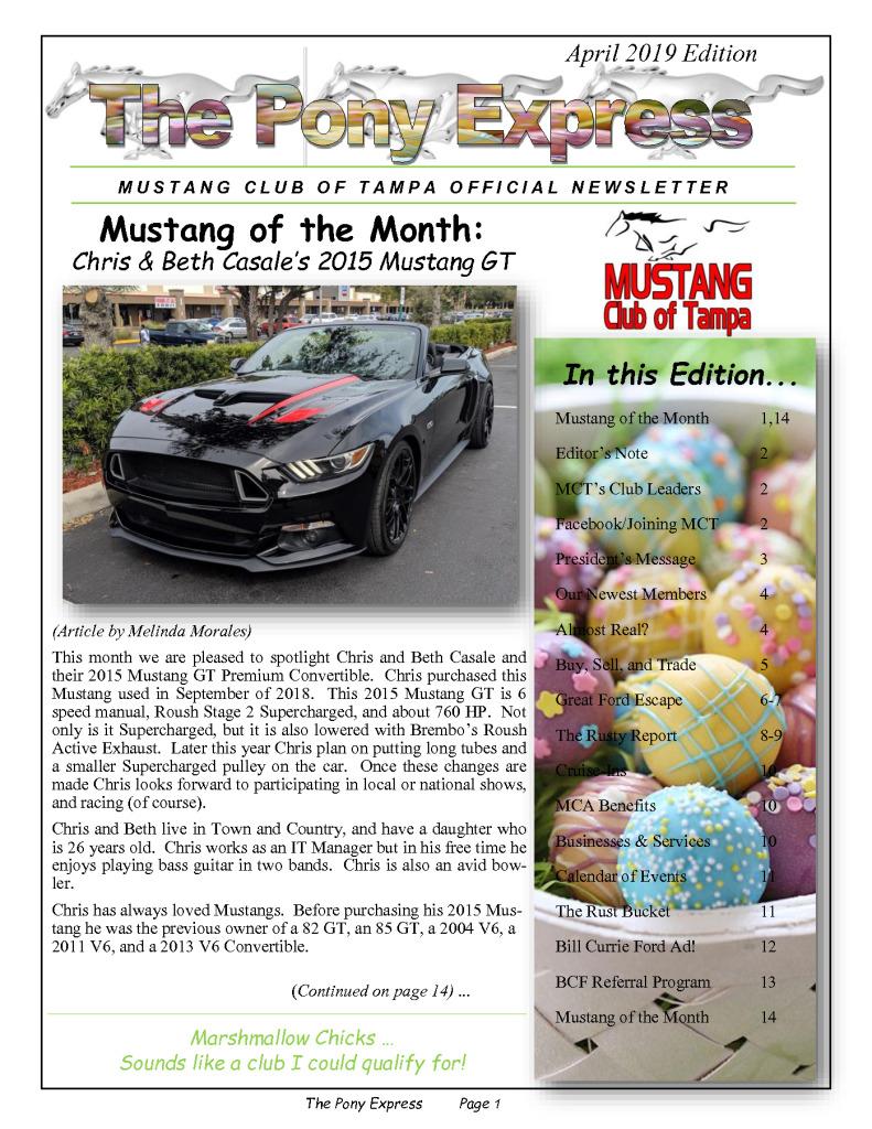 thumbnail of MCT Newsletter – April 2019