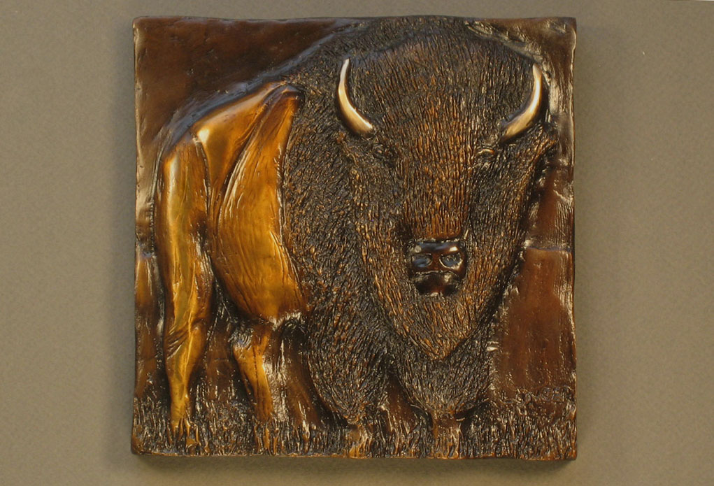 Bronze Bison Relief