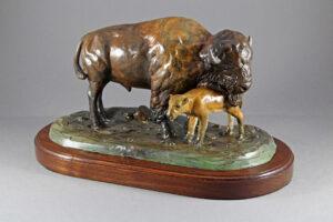 Bull Bison and Calf