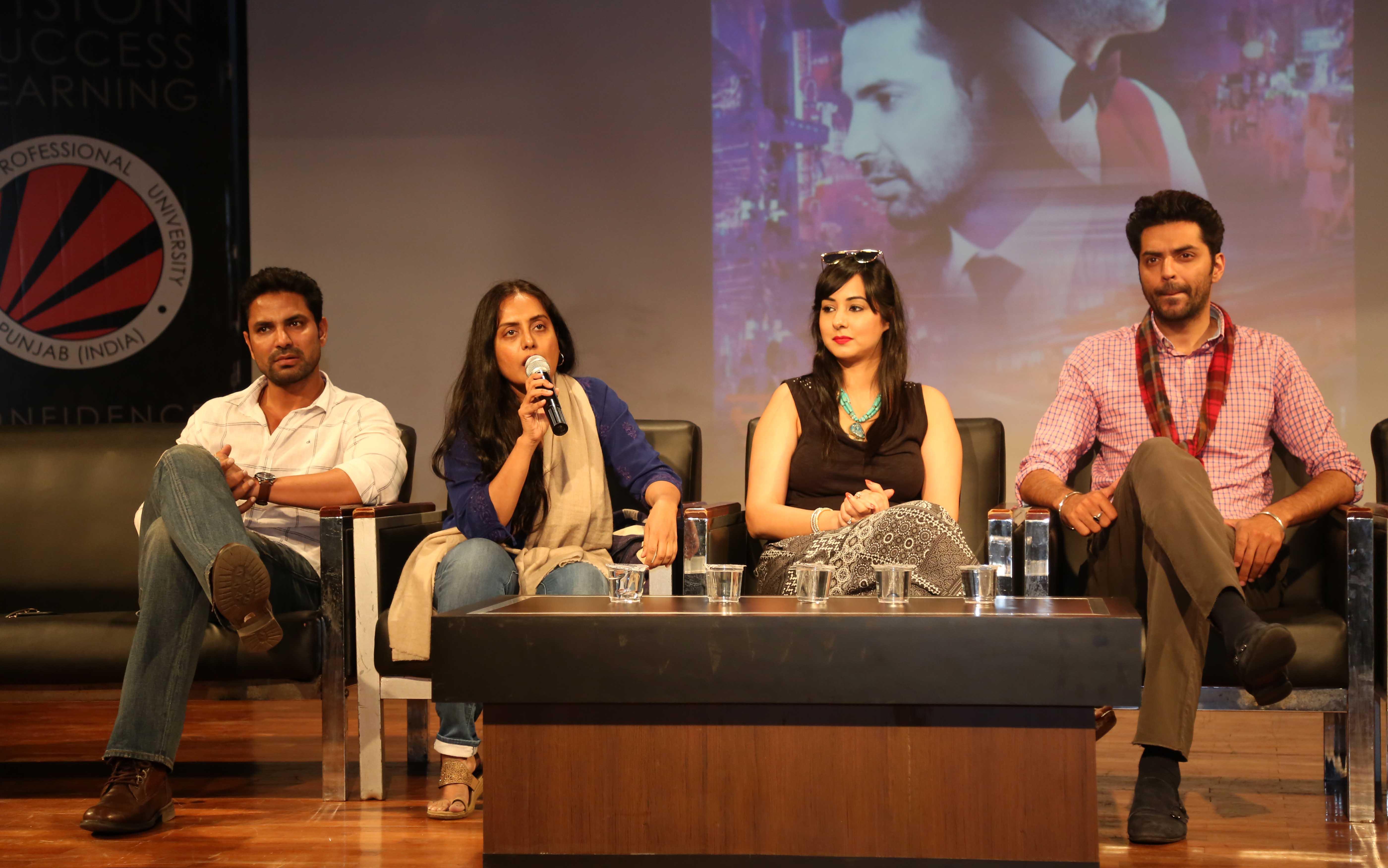 Bollywood film writer Shagufta Rafique interacted with LPU students