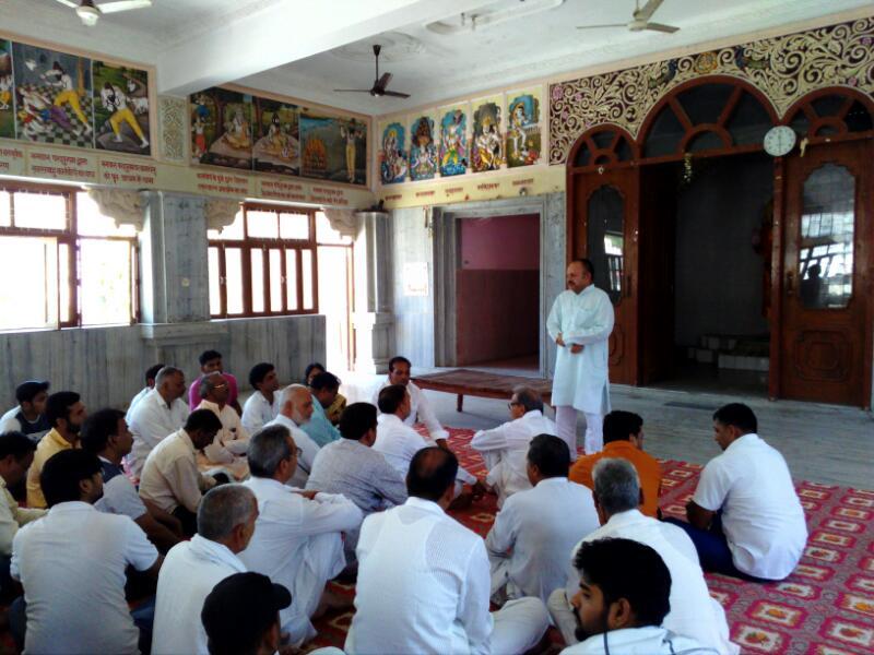 भिवानी में भगवान परशुराम जनमोत्स्व को लेकर सर्व ब्राह्मण समाज द्वारा भगवान् परशोराम मंदिर में बैठक सम्पन्न हो गई