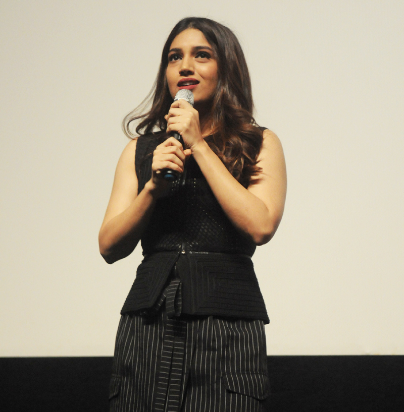 Actress Bhumi Pednekar at the Masterclass on Breaking Stereotypes, during the 48th International Film Festival of India