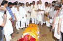 शिक्षा मंत्री की मां गिंदोड़ी देवी का अंतिम संस्कार