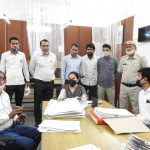 न्यायिक परिसर में आयोजित लोक अदालत