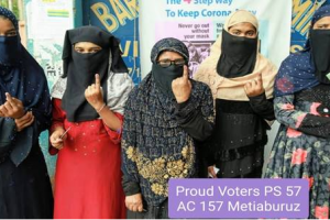 Polling in Phase 4 Assembly Constituencies in West Bengal conducted