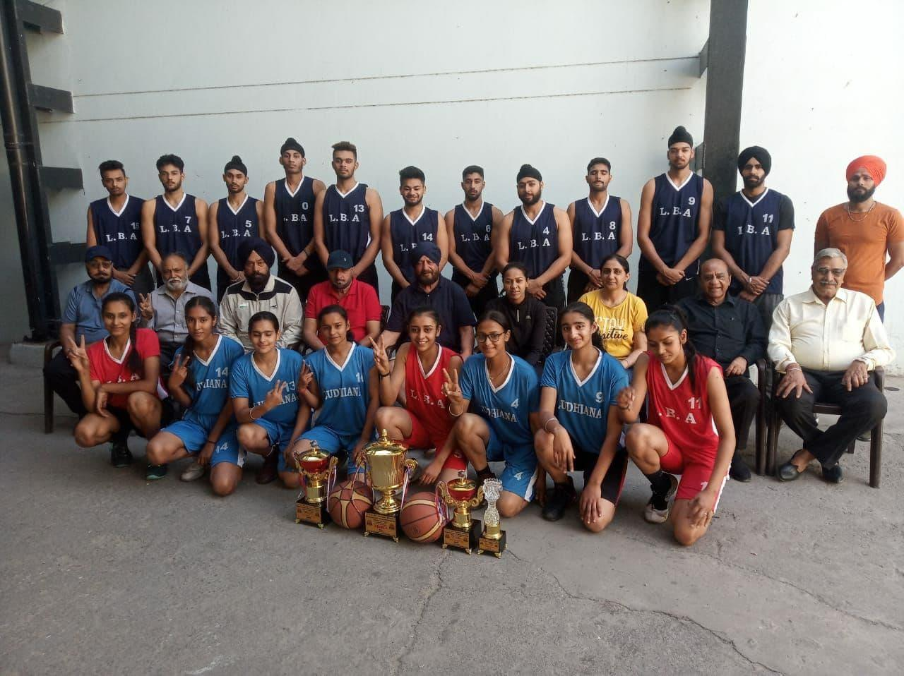 DBA gives warm reception to winning Ludhiana Basketball Academy teams