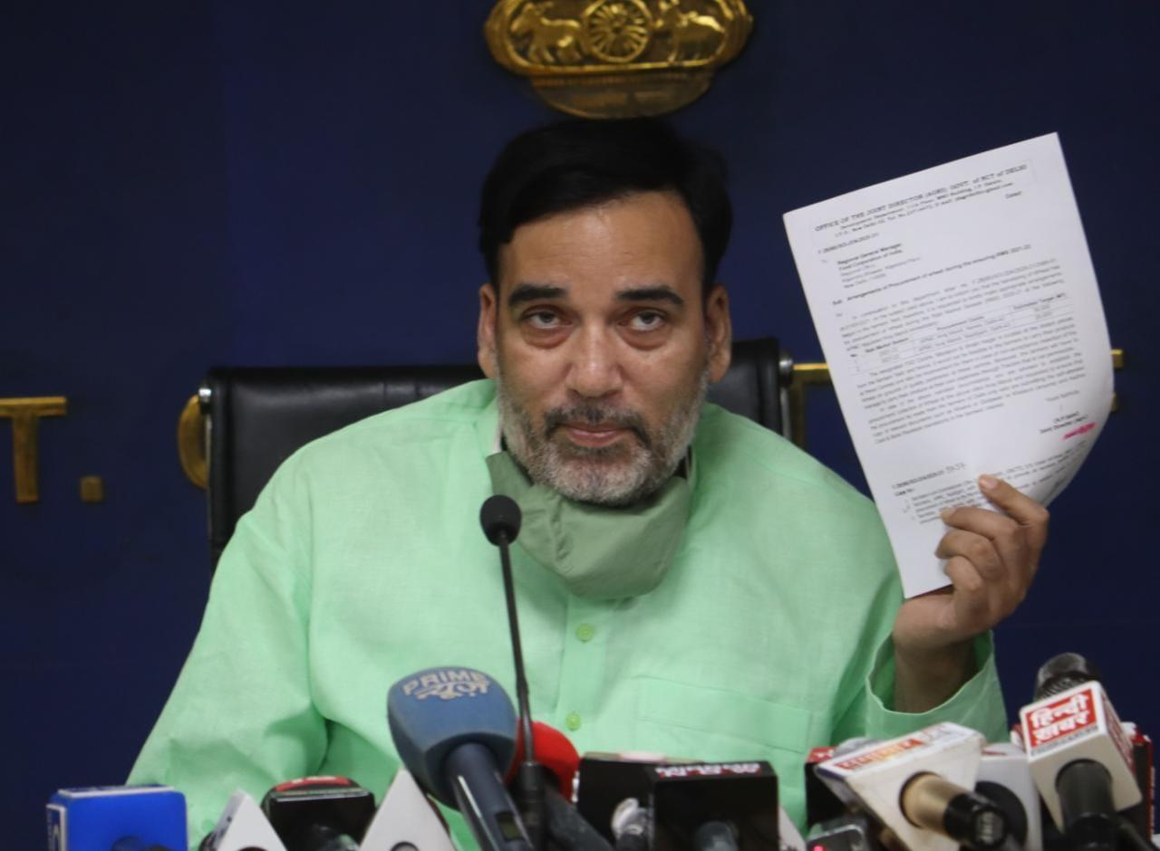 FCI has not opened a single counter for wheat procurement in Delhi on MSP rates from April 1: Gopal Rai
