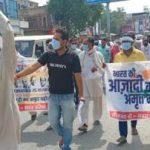 भारत की आजादी का अमृत महोत्सव के तहत दुकानदारों व आमजन को साफ सफाई के बारे में किया जागरूक