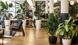 A work space at the headquarters of WeWork, a start-up that rents office space to young entrepreneurs, in New York.