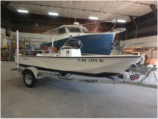 1981 Boston Whaler Montauk restored to pristine condition