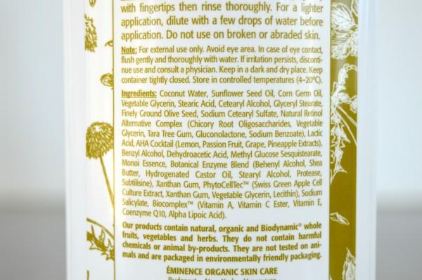 Monoi Age-Correcting Exfoliating Cleanser Ingredients