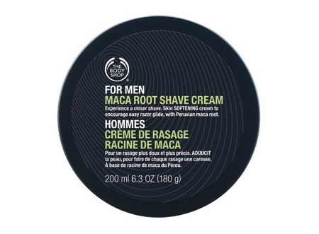 maca root shave cream the body shop men gift guide review