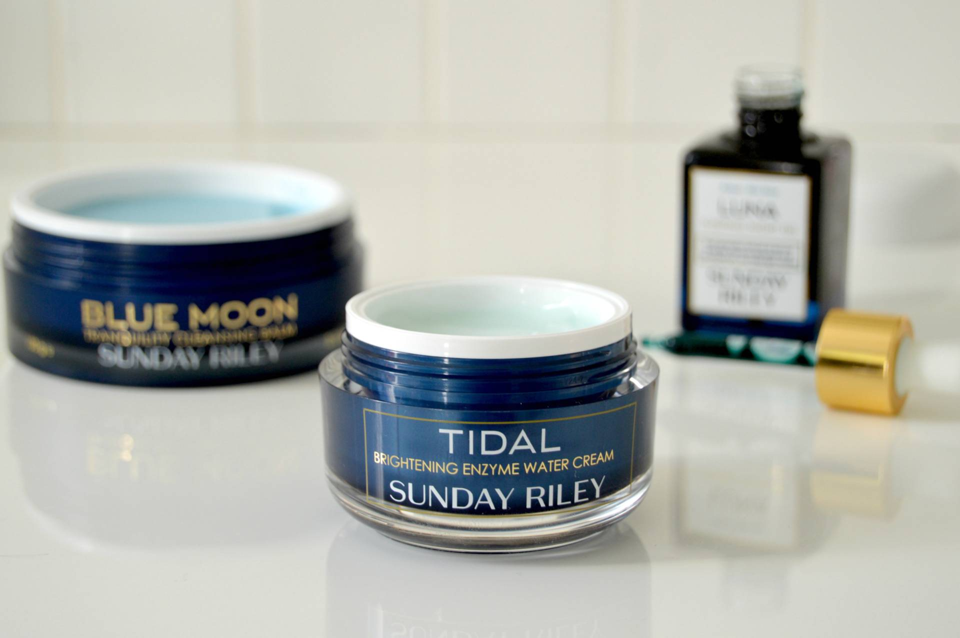 sunday riley blue moon tidal enzyme cream luna oil review inhautepursuit