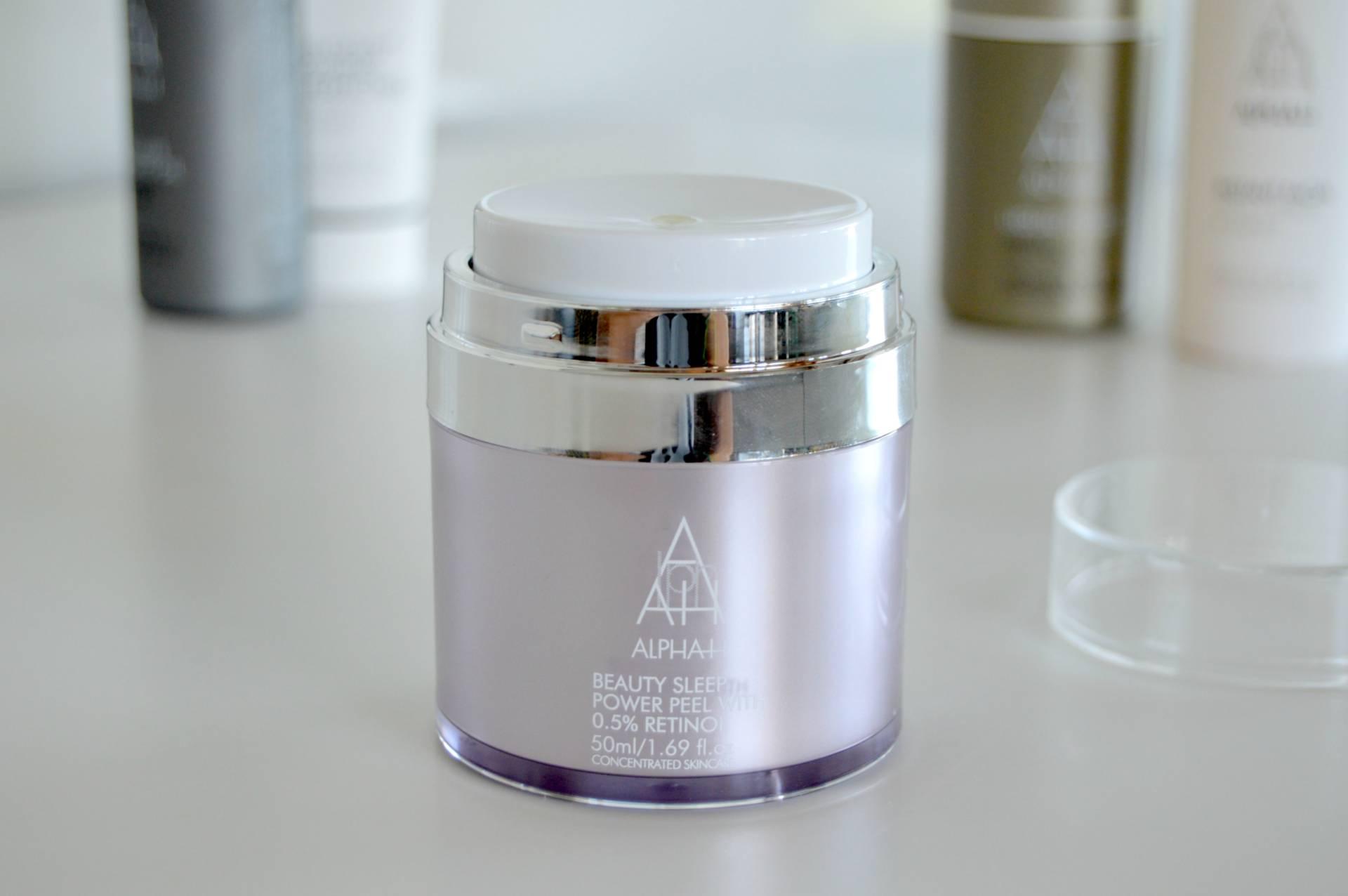 alpha h beauty sleep retinol power peel review inhautepursuit