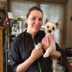 Little Maleah after her groom with Laura!