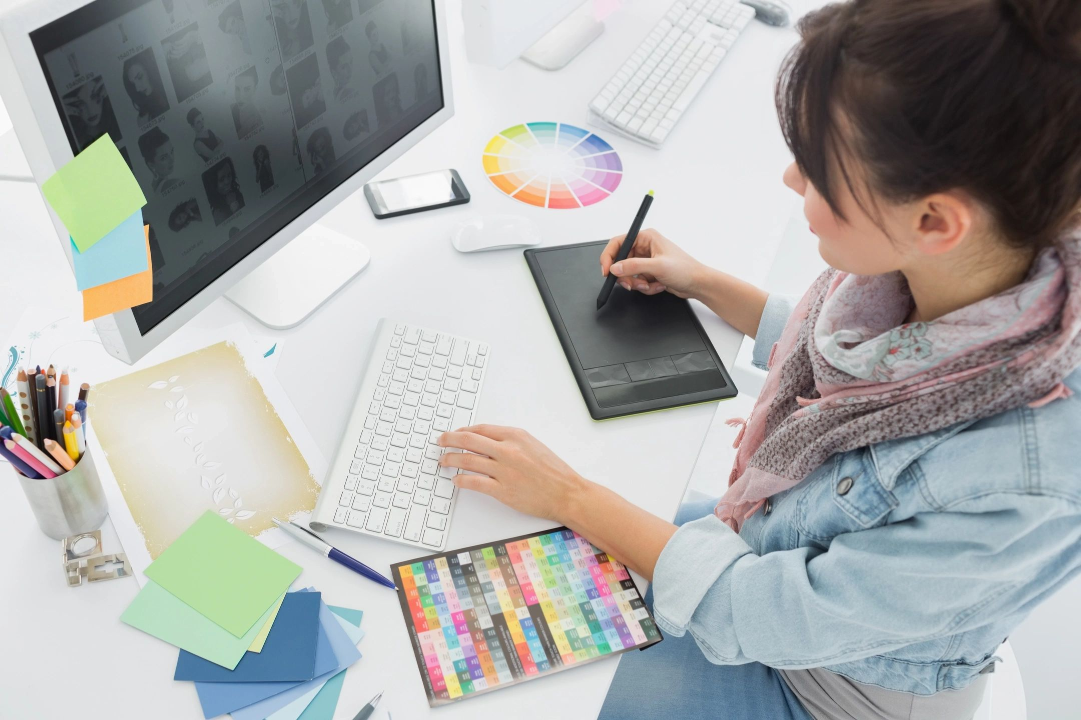 Graphic Designer Working