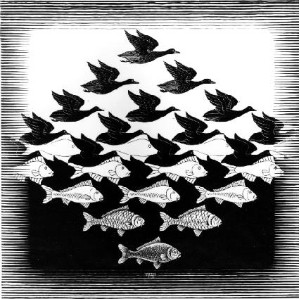 Sky and Water by MC Escher