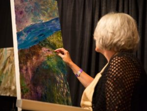 painting during worship
