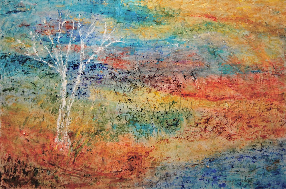 """""""Rising"""" painting of a tree"""