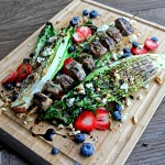 Grilled Great Lakes Summer Salad with Balsamic Reduction Dressing