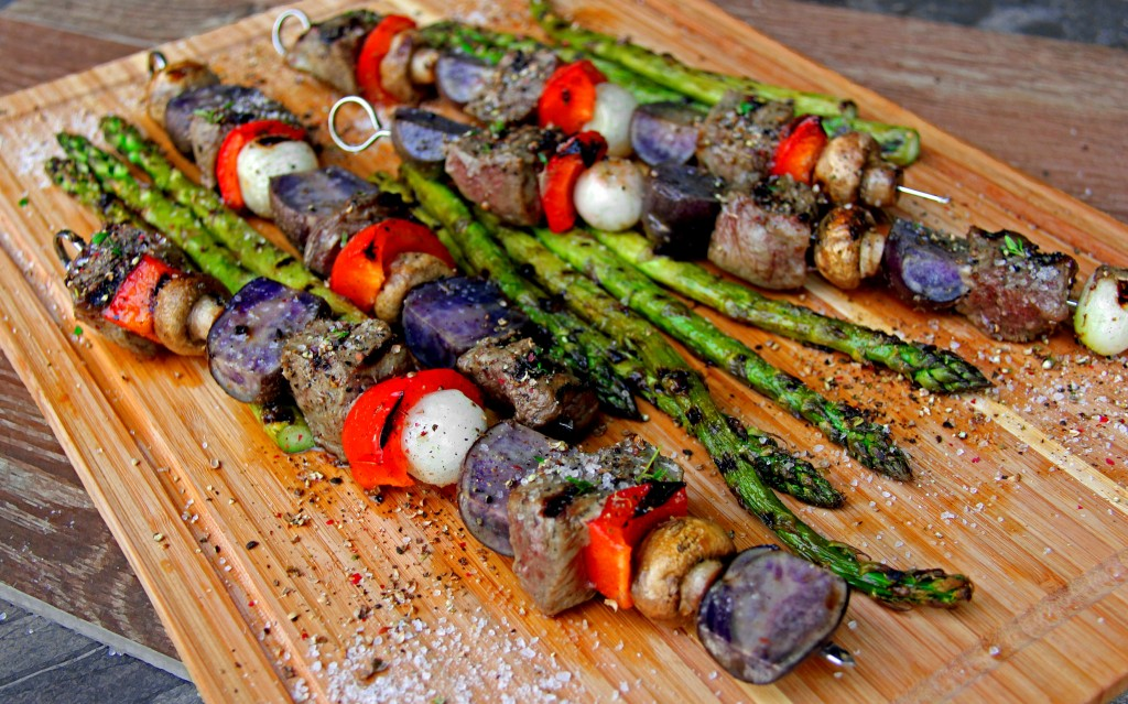 Red White and Blue Grilled Kabobs