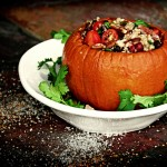 Roasted Pumpkin with Wild Rice Pilaf